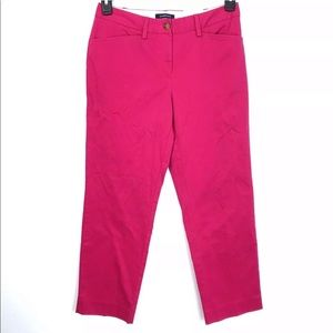 NWT Lands end Hot Pink Mid Rise Straight Leg Pants